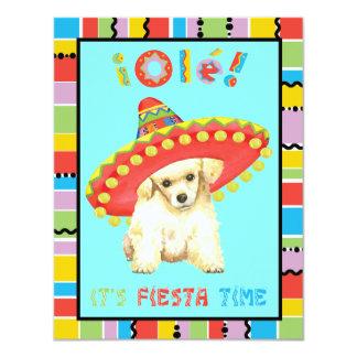 Carte Caniche de jouet de fiesta