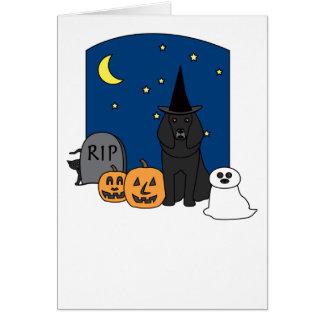 Carte Caniche Halloween