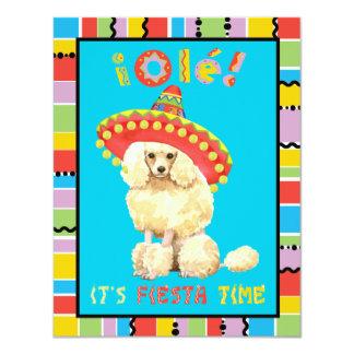 Carte Caniche miniature de fiesta