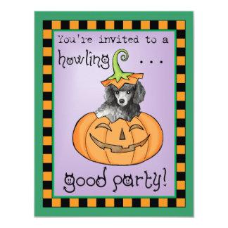 Carte Caniche miniature de Halloween