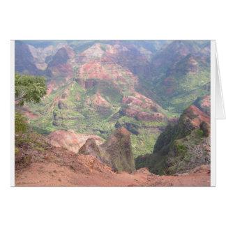 Carte Canyon de Waimea, Kauai, Hawaï