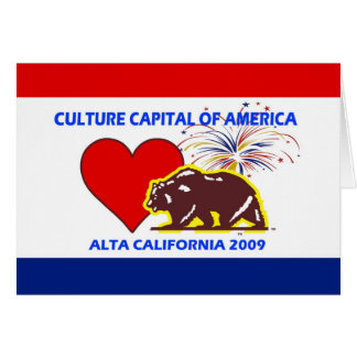 Carte Capitale de culture de l'Amérique Alta California