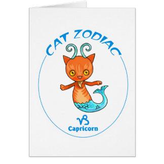 Carte Capricorne de chats de zodiaque