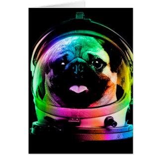 Carte Carlin d'astronaute - carlin de galaxie - l'espace