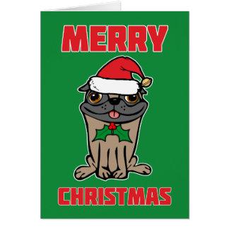 Carte Carlin de Joyeux Noël