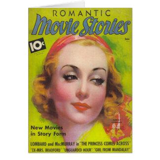 Carte Carole Lombard sur la couverture des histoires