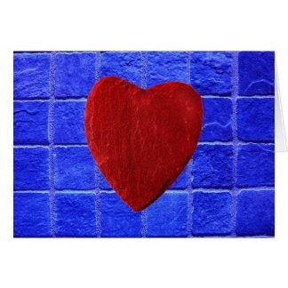 Carte Carreaux arrière-plan bleus coeur