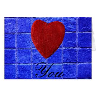 Carte Carreaux arrière-plan Love bleus you