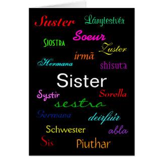 """Carte """"Carte de l'anniversaire d'une soeur"""" -"""