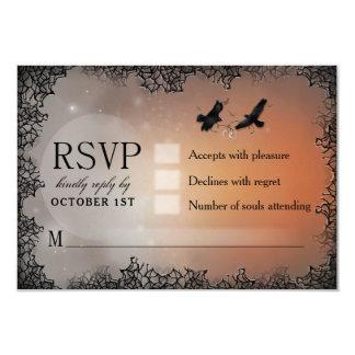 Carte Carte- de réponse assortie de Ravens Halloween