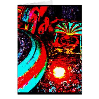 """Carte """"Carte de voeux d'art de JTG de la fontaine deux"""