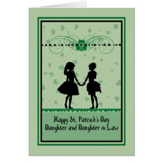 Carte Carte, fille et belle-fille du jour de St Patrick