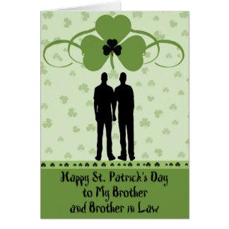 Carte Carte, frère et beau-frère du jour de St Patrick