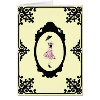 Carte Carte/invitations de ~ de robe de point de polka