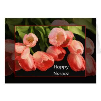 Carte Carte-Tulipes persanes heureuses de salutation de