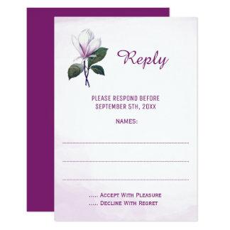 Carte Cartes- de réponse de mariage de magnolia