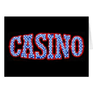 Carte Casino dans blanc et bleu rouges