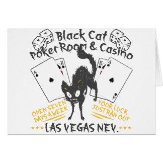 Carte Casino de chat noir