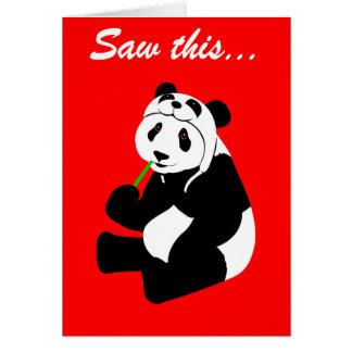 Carte Casquette de panda (anniversaire)