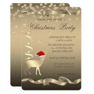 Carte Casquette de Père Noël de cerfs communs de Noël,