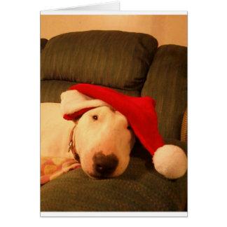 Carte casquette de père Noël de Noël de merra