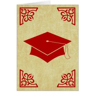 Carte casquette sophistiqué d'obtention du diplôme