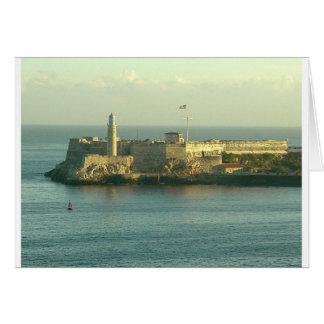 Carte Castill del Morro La Habana Cuba