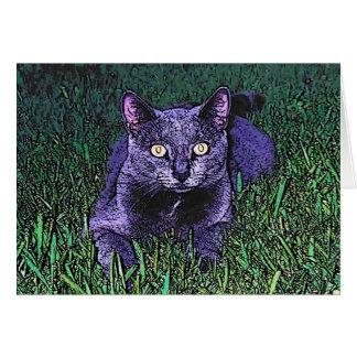CARTE CAT BLEU