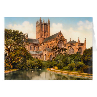 Carte Cathédrale Somerset Angleterre de puits