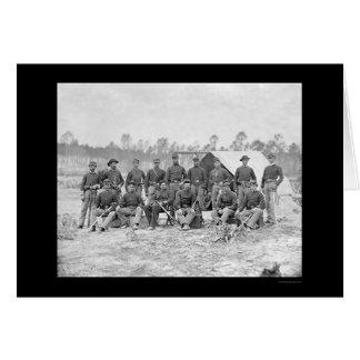 Carte Cavalerie de l'Indiana à Pétersbourg, VA 1864