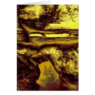 Carte Caverne de pétroglyphe