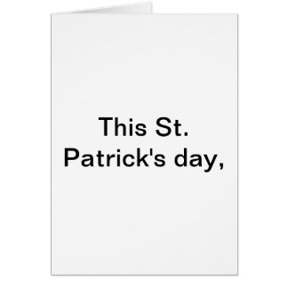 Carte Ce jour de St Patricks…