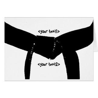 Carte Ceinture noire d'arts martiaux