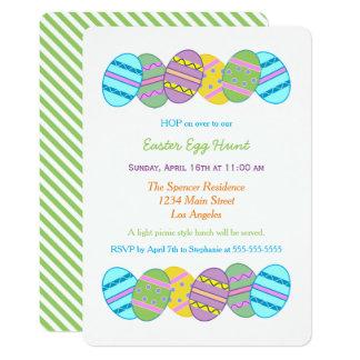 Carte Célébration colorée de chasse à oeuf de pâques