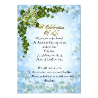 Carte Célébration de lierre et de fleurs d'invitation de