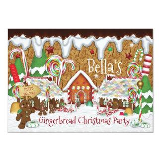 Carte Célébration de Noël de biscuit de pain d'épice de