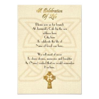 Célébration de noeud et de croix celtiques