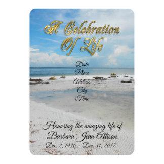 Carte Célébration de plage d'invitation de la vie