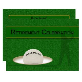 Carte Célébration de retraite pour le golfeur - boule de