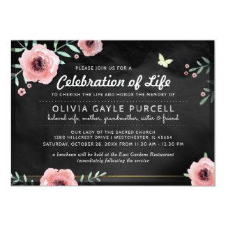 Carte Célébration de rose d'invitation de la vie et de