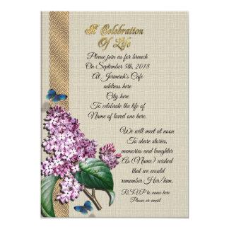 Carte Célébration des lilas de la vie