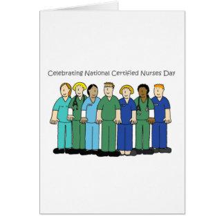 Carte Célébration du jour d'infirmières certifiées