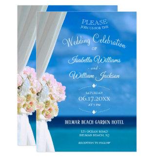 Carte Célébration florale élégante de mariage d'été de