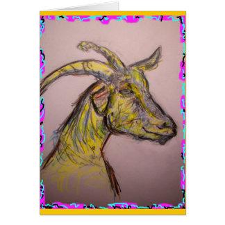 Carte celui qui flotte votre chèvre