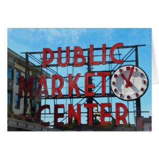 Carte Centre de marché public à Seattle Washington