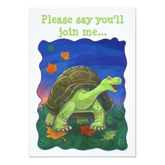 Carte Centre mignon de partie de tortue de têtes et de