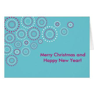 Carte Cercles de bonne année de Joyeux Noël
