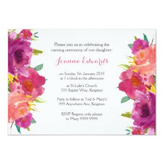 Carte Cérémonie de nomination florale d'aquarelle