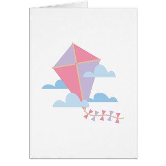 Carte Cerf-volant en nuages