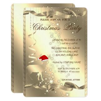Carte Cerfs communs élégants de Noël, étincelle, fête de